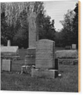 Odd Fellows Cemetery Wood Print