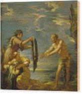 Odysseus And Nausicaa Wood Print