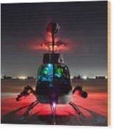 Oh-58d Kiowa Pilots Run Wood Print