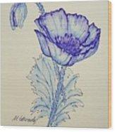 Oh Poppy Wood Print