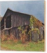 Ohio Barn In The Fall Wood Print