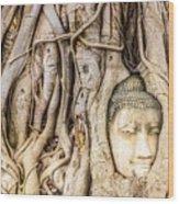 Old Bangkok Ruins Wood Print