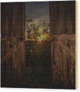 Old Barns Wood Print