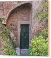 Old Buildings In The Jewish Ghetto In Rome Wood Print
