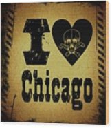 Old Chicago Wood Print