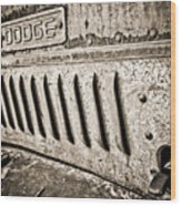 Old Dodge Grille Wood Print