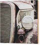 Old Farm Ford Wood Print