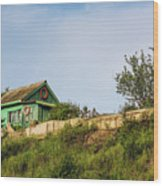 Old Fisherman's House On The Hill Wood Print