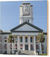 Old Florida Capitol Wood Print by Frank Feliciano