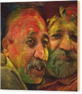 Old Friends Wood Print