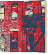 Old Fulton St Wood Print