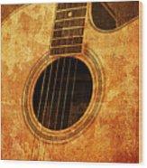 Old Guitar Wood Print