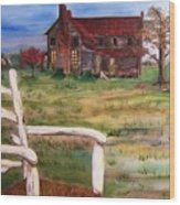 Old Home  Wood Print