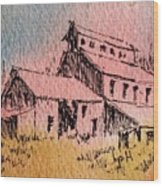Old Mill Cable Ghost Town Montana_ Wood Print