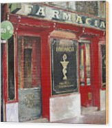 Old Pharmacy Wood Print