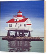 Old Plantation Flats Lighthouse Wood Print