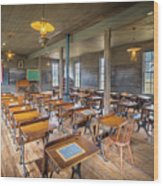 Old Schoolroom Wood Print