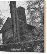 Old Shack Wood Print