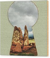 Old Spanish Trail Marker Wood Print