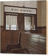 Old Time Train Station Wood Print