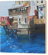 Old Town Juneau Ak Wood Print