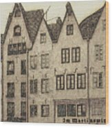 Old Town Of Cologne Wood Print