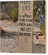 Old Tucson Graveyard Wood Print
