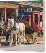 Old Tucson Stagecoach Wood Print
