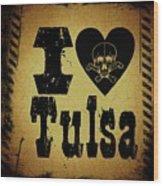 Old Tulsa Wood Print