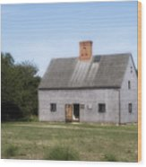 Oldest House - Nantucket Massachusetts. Wood Print