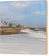 On A Beach Wood Print
