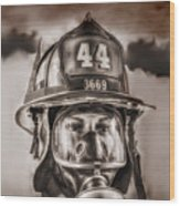 On Duty And Into Fire Wood Print