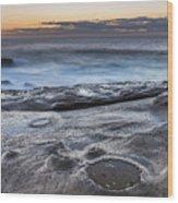 On The Ledge - Sunrise Seascape Wood Print