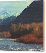 On The Squamish River 2223 Wood Print