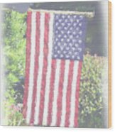 One Nation Under God Wood Print