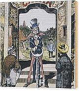 Open Door Cartoon, 1900 Wood Print