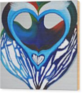 Open Heart Wood Print