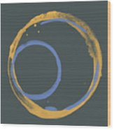 Orange And Blue 2 Wood Print