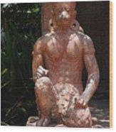 Orange Monkey Wood Print