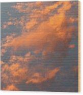 Orange Sky Wood Print