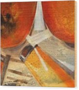 Orange Still Life Wood Print