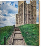 Orford Castle Wood Print