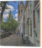 Oude Kerk In Delft Wood Print