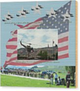 Our Memorial Day Salute Wood Print