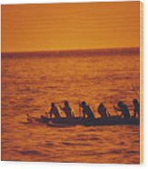 Outrigger Canoe Wood Print