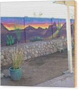 Outside Mural Wood Print