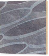 Ovals Pattern Texture Background Wood Print