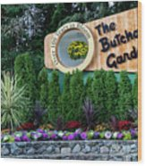 Over 100 Yrs In Bloom, Historic Garden Icon, The Butchart Gardens. Wood Print
