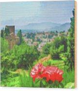 Overlooking Granada Wood Print