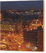 Overlooking The Hudson River From 42nd Street II Wood Print